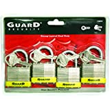 Guard Security 740X4 Laminated Steel Padlock with 1-1/2-Inch Standard Shackle Keyed Alike, 4-Pack