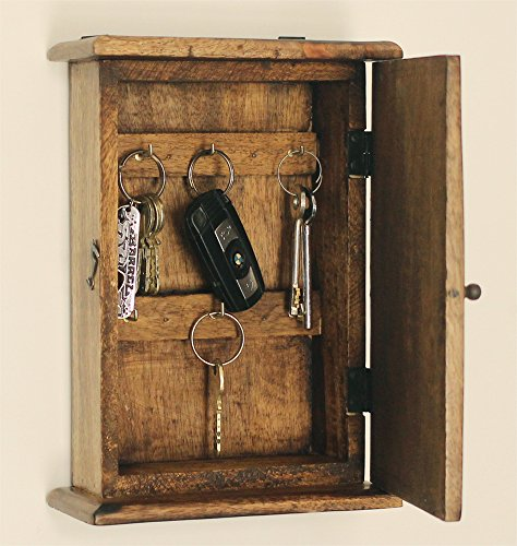 Souvnear 9 6 Inch Mango Wood Handmade Key Holder In 6