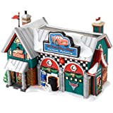 Department 56 North Pole Series Village Cars Holiday Detail Shop Lit House, 5.55-Inch