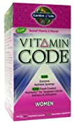 Garden of Life Vitamin Code Raw Women's Multivitamin, 120 Capsules