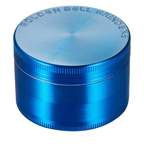 Golden-Bell-4-Piece-2-Spice-Herb-Grinder-Blue