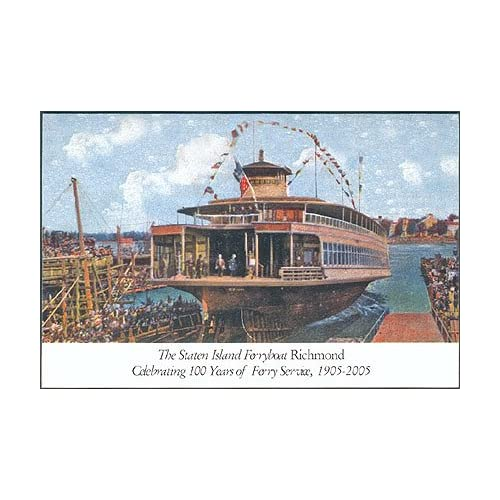 Staten Island Ferry centennial souvenir card, Noble Maritime Collection