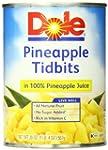 Dole Pineapple Tidbits in Juice, 20 O...