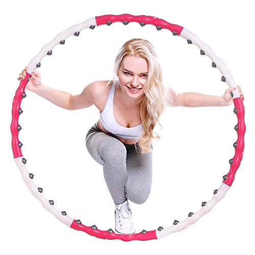 Ancheer Fitness Hula Hoop 1.2kg/2.65lb Exercise Hula with 40 Massage Magnet Balls