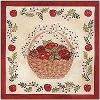 Alice's Cottage Beverage Napkins Pack of 20 - Alice Backman (Christmas Apple Basket)