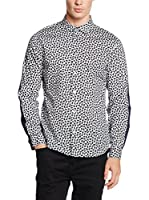 Marc by Marc Jacobs Camisa Vestir Richmond Paisley (Blanco / Negro)