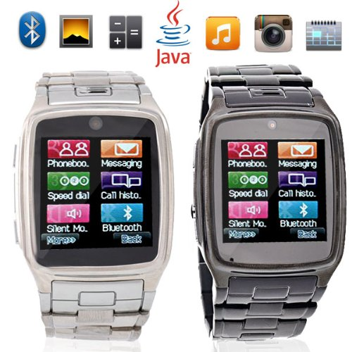 TW810 1.6 Inch Touchscreen Quad Band Wrist Watch Cellphone with Bluetooth FM MP3 /MP4 Steel Watch Band (Black)... Black Friday & Cyber Monday 2014