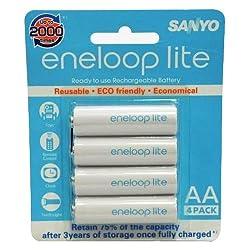 Sanyo eneloop lite 1000mAh 4pcs AA Rechargeable Batteries