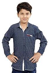 Hushbhi Boy's Shirt (HB0058_Peach_15-16 Y)