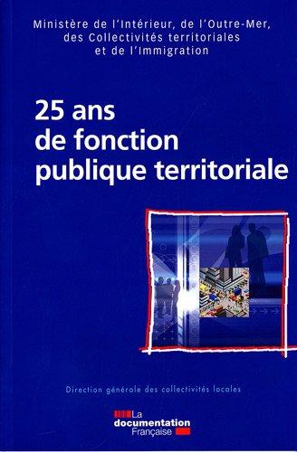 25 ans de fonction publique territoriale