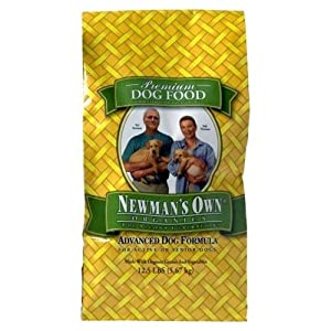 Newman's Own Organics Advanced Dog Formula For Active Or Senior Dogs Bag 12.5 # (Pack of 9)