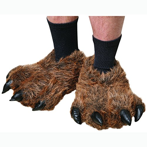 Wishpets Grizzly Bear Paw Slippers