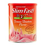 Slim-Fast Summer Strawberry Flavour Milkshake Powder 438g (Pack of 3)