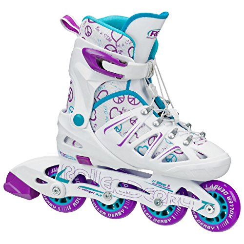 Cheapest Price! Roller Derby Girl's Stinger 5.2 Adjustable Inline Skate