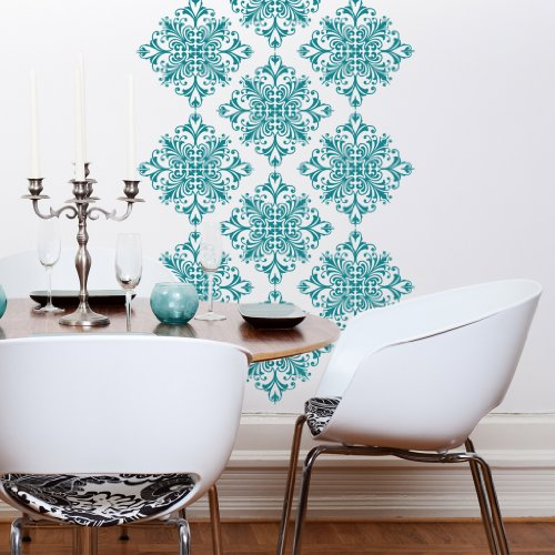Byrdie Graphics Scroll Damask Vinyl Wall Decor stickers Qty: 18 - 11