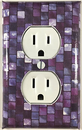 Purple Tiles Decorative Outlet Plate Cover