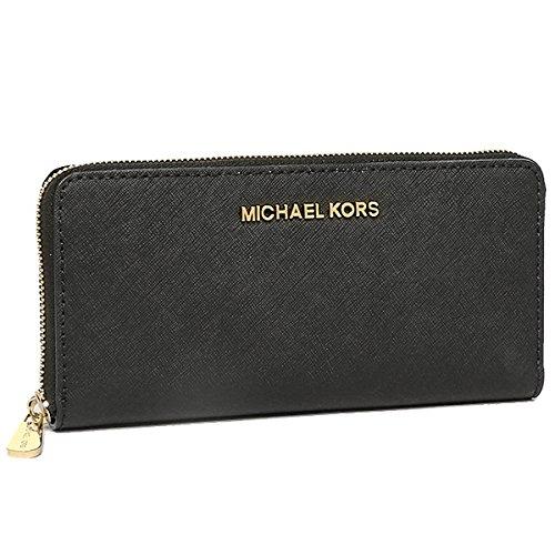 (マイケルマイケルコース) MICHAEL MICHAEL KORS マイケルマイケルコース 財布 MICHAEL MICHAEL KORS 32S3GTVE3L 001 JET SET TRAVEL 長財布 BLACK/GOLD[並行輸入品]