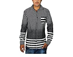 China Collection Men's Casual Shirt(CC04XL_Black_X-Large)