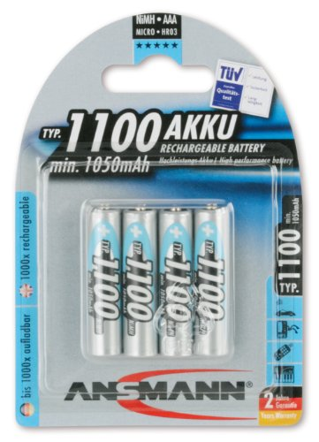 Ansmann 4 accumulateurs aAA 1100mAh