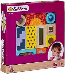 Simba Eichhorn 100002240 - Bloques de madera apilables con sonido (12 piezas)