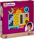 Toy - Eichhorn 100002240 - Color Holz-Soundbausteine, 12-teilig, Holz bunt bedruckt - Klangbausteine