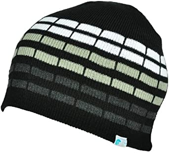 Alki'i cube mens/womens warm beanie snowboarding winter hats - Black