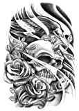 Temporäre Körperkunst Entfernbare Tattoo Aufkleber Schädel