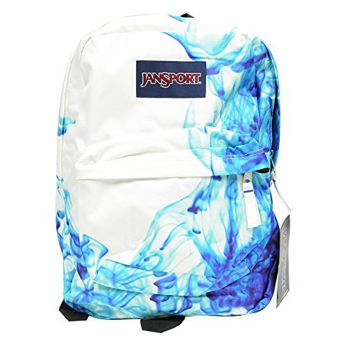 Classic Jansport Superbreak Backpack (Multi Blue Drip Dye (T501ZQ1)) (Light Blue Backpack Jansport compare prices)