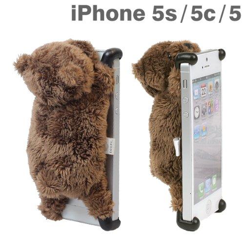 ZOOPY simasima iPhone ケース カバー ジャケット docomo au SoftBank iPhone5 iPhone5s iPhone5c 専用 (クマ)