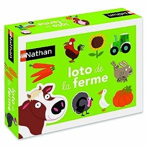 Nathan - 31040 - Jeu de société - Jeu éducatif - Loto Ferme