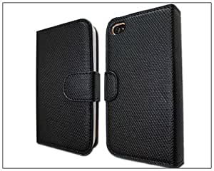 BONAMART ® Wallet Leather Case Credit ID Card slot Holder Cover Pouch For iPhone 4 4S Black