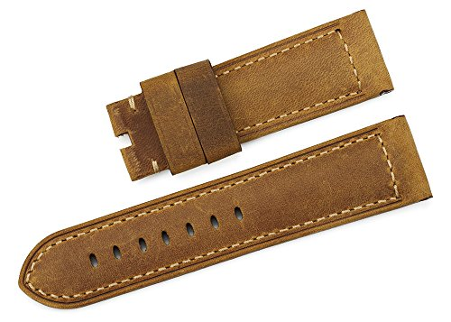 iStrap 24mm Genuine Ammo Military Replacement Watch Band for PANERAI LUMINOR - Brown