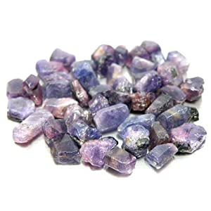 100.55 Ct. /45 Pcs. Unheated!! Natural Rough Blue, Purple Sapphire Africa For Study