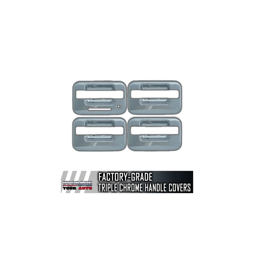 2004 2013 Ford F150 4dr Chrome Door Handle Covers (With Keypad, No Passenger Side Keyhole, Bases Only)