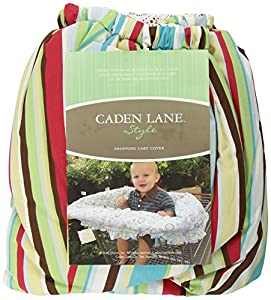 Caden Lane Classic Collection Circle Dot Shopping Cart Cover, Red