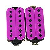 Yibuy 一対 パープル エレキギターのハムバッカー 二重コイル ノイズレス セラミック磁石