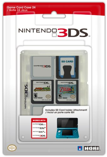 Hori Officially Licensed 3DS Game Card Case 24 (Clear) (Nintendo 3DS/DSi/DSL)