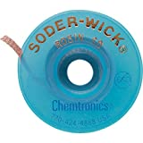 Chemtronics, 80-4-10, Desoldering Wick, 10 ft, 4, Copper, Rosin (Color: Copper)