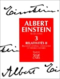 echange, troc Albert Einstein, Françoise Balibar - Oeuvres choisies, tome 3 : Relativités II