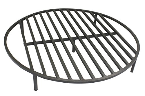 Round-Fire-Pit-Grate-28-Heavy-Duty-Grill-Cooking-Campfire-Camp-Ring-12-Steel