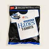 Hanes ヘインズ ブルーパック Tシャツ 白無地 3枚組 クルーネック Mサイズ