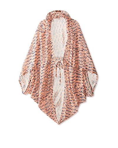Evelyn K Women's Print Kimono, Orange