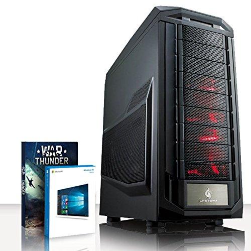 VIBOX Infinity -Turbo 10 - Extreme Gamer, Gaming PC, Desktop PC, USB3 Computer mit WarThunder Spiel Bundle, Windows 10 PLUS eine lebenslange Garantie inbegriffen* (Neu 4.4GHz Overclocked Intel, I5 6600K Schnell Quad-Core, Skylake, Prozessor, 2 GB Nvidia Geforce GTX 950 Grafikkarte, 120GB SSD Solid-State-Laufwerk, Große 2TB Festplatte, Corsair CX750M PSU, Coolermaster R2 120V Wasser CPU Kühler, Z170 SKT1151 Motherboard, Blu -Ray ROM, 32 GB 2800MHz RAM)