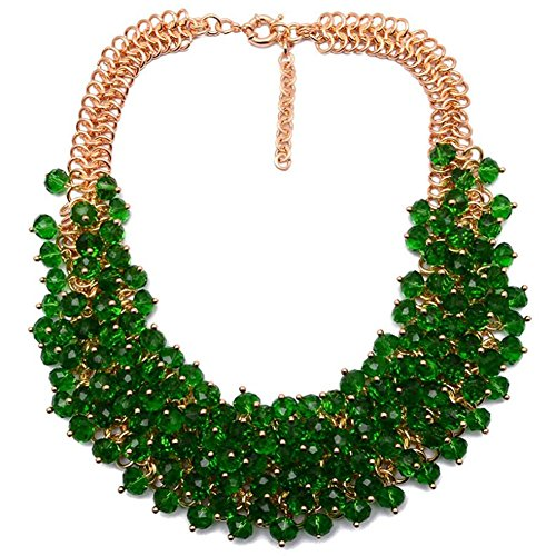 twopages-chunky-crystal-beaded-bib-collar-statement-necklace-green-jewelry-gift-for-women
