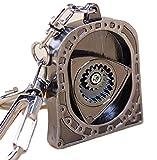 ロータリー エンジン デザイン メカニカル キーホルダー 車 鍵 RX-7 RX-8 型 タイプ カラビナ付き (キーホルダー)