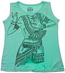 Urumi Women's Regular Fit T-Shirt (URMI057-M, Green, Medium)