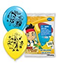 Pioneer National Latex Jake and The Never Land Pirates 6 Count 12 Latex Balloons, Assorted