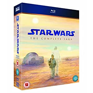 Star Wars: The Complete Saga (Episodes I-VI) Limited Edition with Film Cell [Blu-ray] - $76.40 Delivered