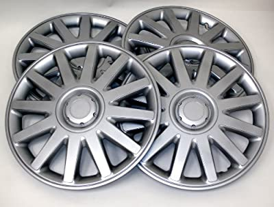TuningPros Style# 610 Hubcaps Wheel Skin Cover Silver Set of 4