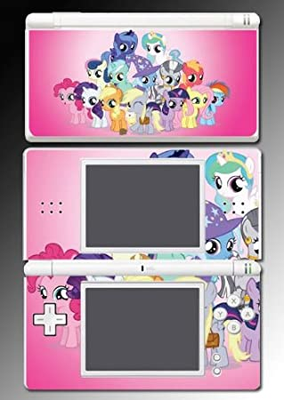 My Little Pony MLP Pinky Pie Derpy Rarity Twilight Sparkle Fluttershy Friendship is Magic Video Game Vinyl Decal Skin Protector Cover 2 for Nintendo DS Lite